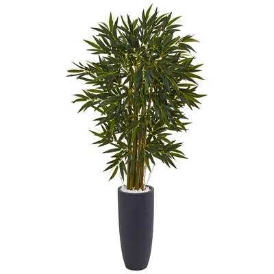 Artificial Floor Plastic Bamboo Tree in Planter - Wayfair