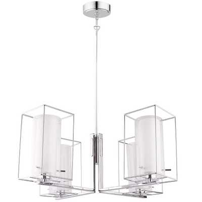 EGLO Loncino 1 4-Light Chrome Chandelier - Home Depot