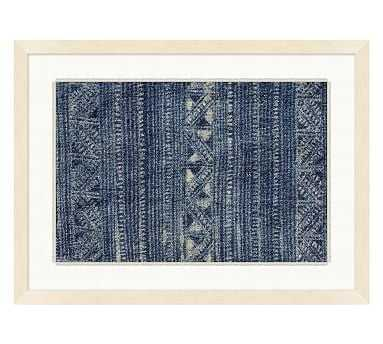 Indigo Batik Framed Paper Print, #3 - Pottery Barn