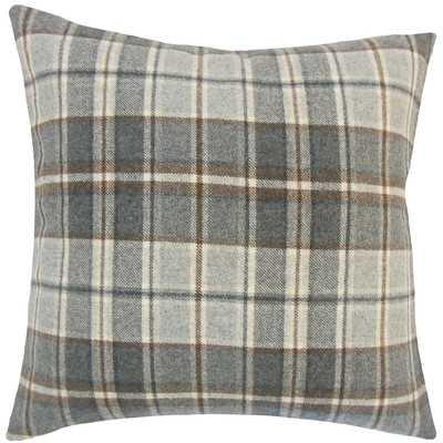 Irfan Plaid Wool Throw Pillow - AllModern