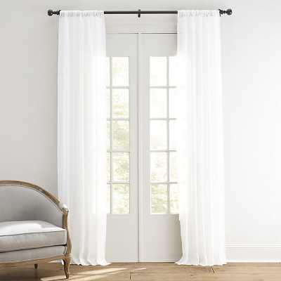 """Linen Sheer Drapery Panel Ivory 96"""" - Ballard Designs - Ballard Designs"""