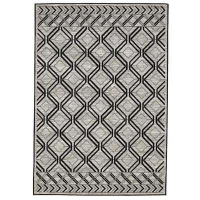 Mollie Indoor/Outdoor Gray Area Rug - Wayfair