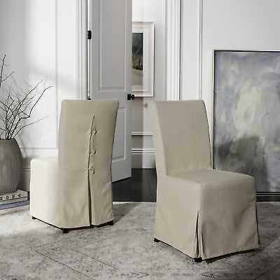 Safavieh Parsons Dining Slipcover Dining Chairs (Set of 2) - 33 x 19 x 40 - eBay