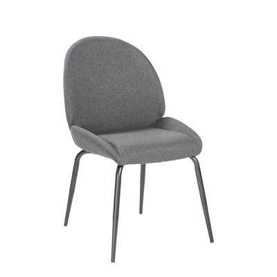 Oday Upholstered Dining Chair with Steel Leg (set of 2) - Wayfair