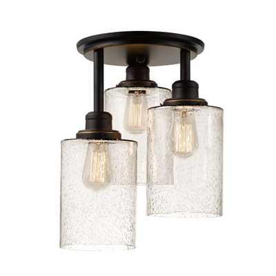 Globe Electric Annecy 3-Light Oil Rubbed Bronze Semi-Flushmount Light - Home Depot