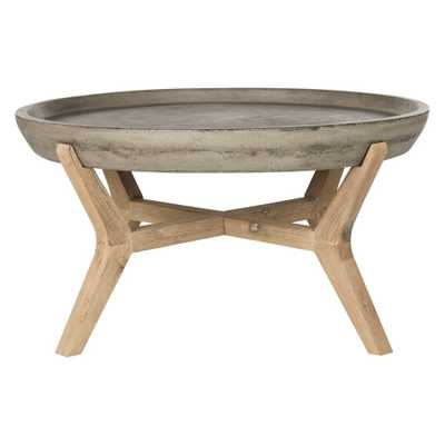 Wynn Round Coffee Table - Dark Gray - Safavieh - Target