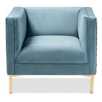 Whiteman Glam and Luxe Velvet Fabric Upholstered Armchair - Wayfair