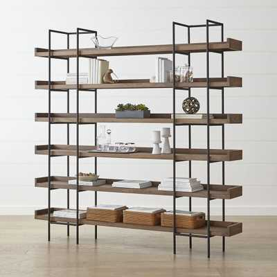 Beckett Grey Wash 6-High Shelf - Crate and Barrel