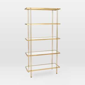 Fulton Bookshelf, Antique Brass - West Elm