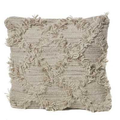 Meansville Wool Throw Pillow - Wayfair