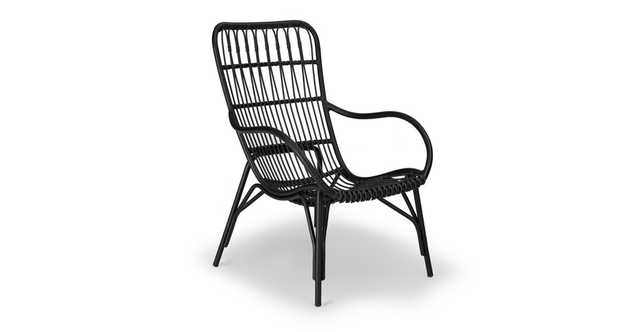 Medan Graphite Lounge Chair - Article