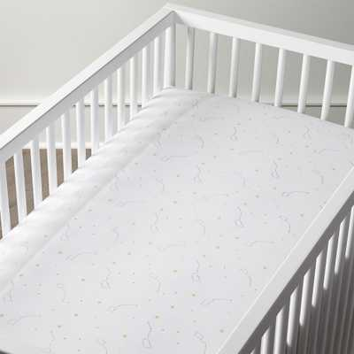 Organic Big Dipper Star Crib Fitted Sheet - Crate and Barrel