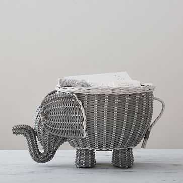 Elephant Shaped Basket - West Elm