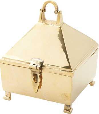 Palma Large Brass Latch Box - CB2