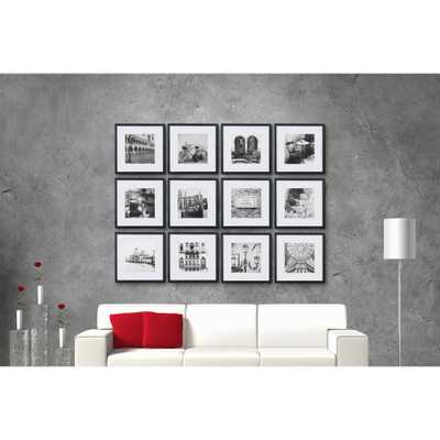 Gallery Perfect 8 in. x 8 in. Black Collage Picture Frame Set - Home Depot