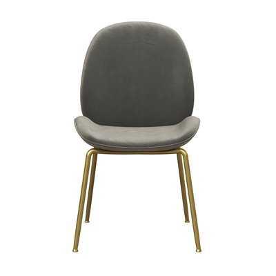 Astor Upholstered Dining Chair, Light Gray - Wayfair