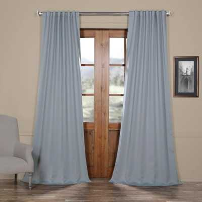 Exclusive Fabrics & Furnishings Blue Fir Blackout Room Darkening Curtain - 50 in. W x 96 in. L - Home Depot