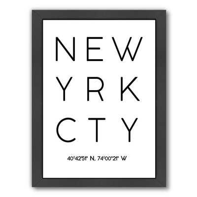 New York City Framed Textual Art - Wayfair