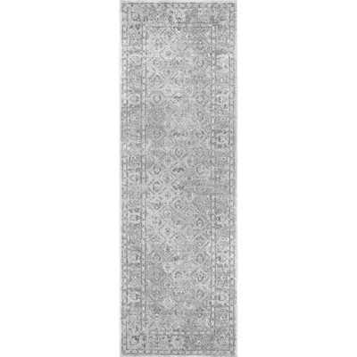Herminia Vintage Trellis Grey 3 ft. x 8 ft. Runner Rug - Home Depot