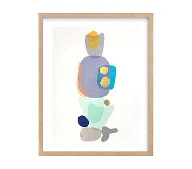 west elm x pbk Navy Blue Gold Totem Wall Art by Minted(R), Natural, 11x14 - Pottery Barn Kids