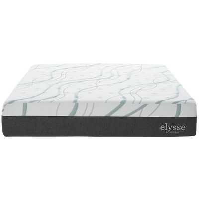 Elysse Queen CertiPUR-US Certified Foam 12 in. Gel Infused Hybrid Mattress in White - Home Depot