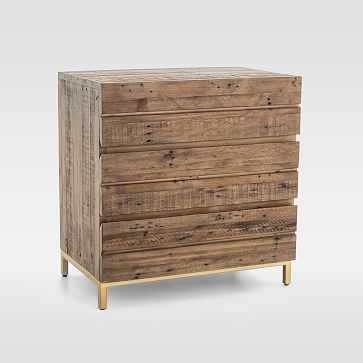 Reclaimed Wood + Iron Base 3-Drawer Dresser - West Elm