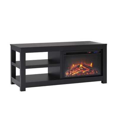 55 George Electric Fireplace TV Stand Black - Room & Joy - Target