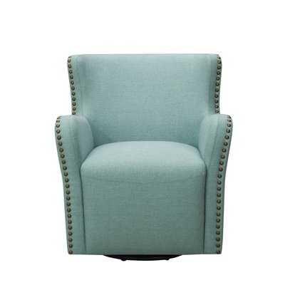 Daxton Upholstered Swivel Armchair - Wayfair