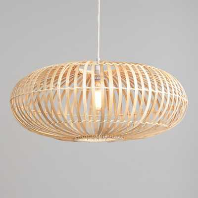 Round Bamboo and Rattan Pendant Lamp by World Market - World Market/Cost Plus
