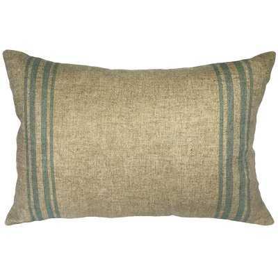 Lazaro Grainsack Striped Linen Lumbar Pillow - Birch Lane