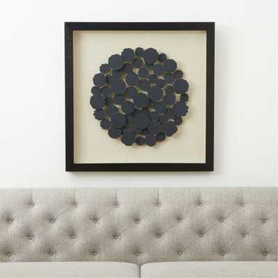 Charcoal Disk Paper Wall Art - Crate and Barrel
