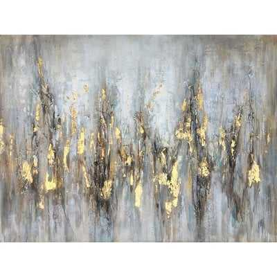 Gleaming Gold' Oil Painting Print on Wrapped Canvas - Wayfair