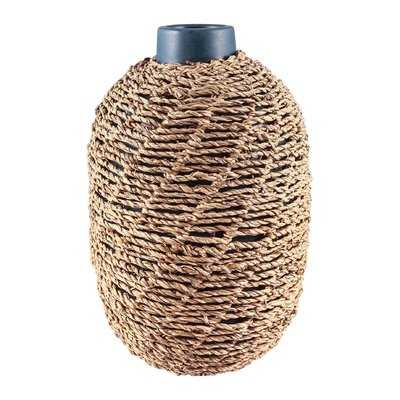 Natural Seagrass Table Vase - Wayfair