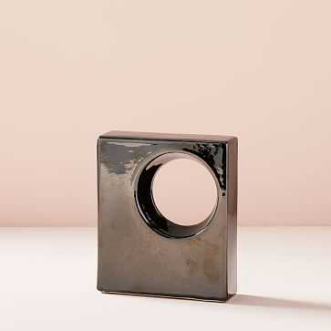 Ceramic Cube Objects, Black, Small - West Elm