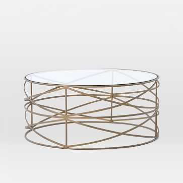 Sculptural Brass Coffee Table - West Elm