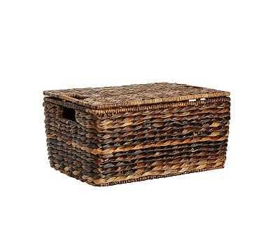 Havana Lidded Basket, Medium - Pottery Barn