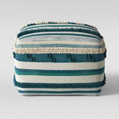 Lory Pouf Teal and Green Textured - Opalhouse, Teal/Green - Target