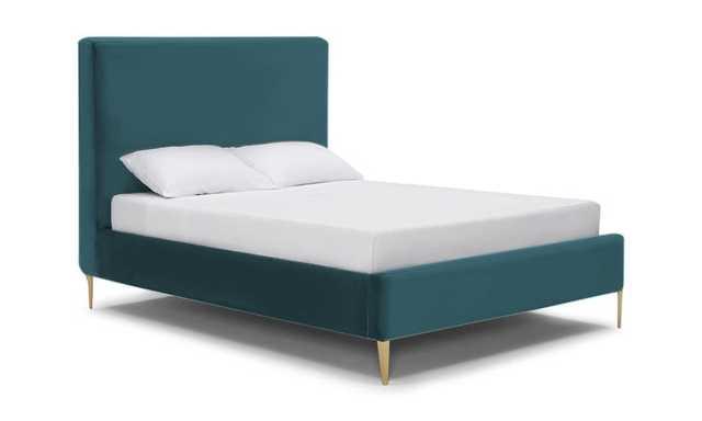 Blue Oliff Mid Century Modern Bed - Cody Pacific - Queen - Joybird