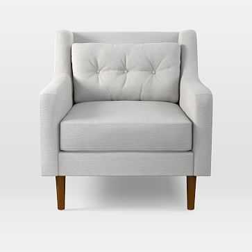 Crosby Armchair, Eco Weave, Oyster, Pecan - West Elm