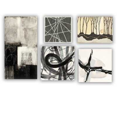 Designart 'Geometrical Collection ' Abstract Wall Art set of 5 pieces - Wayfair