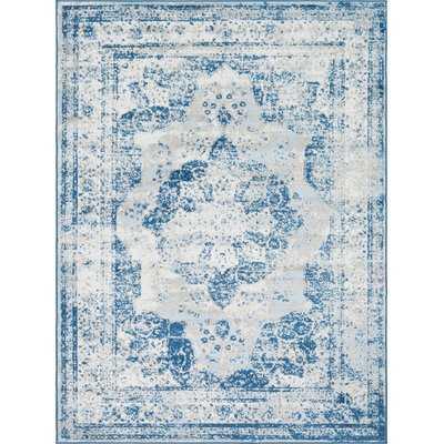 Brandt Tibetan Blue/Ivory/Beige Area Rug - Wayfair
