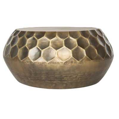 Coffee Table Antique Brass - Safavieh - Target