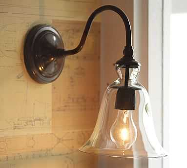 Rustic Glass Indoor/Outdoor Sconce - Pottery Barn