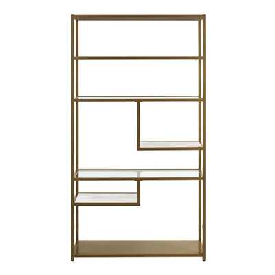 Terra Brass Geometric Bookcase Etagere - Home Depot