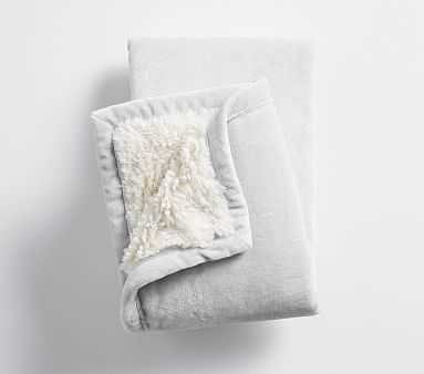 Sherpa Baby Blanket, Gray/Ivory - Pottery Barn Kids