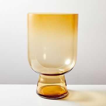 "Foundations Glass Hurricane, Amber, 16.5""h - West Elm"