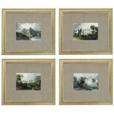 Castles 4 Piece Framed Painting Print Set - Wayfair
