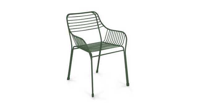 Caya Grasshopper Green Dining Armchairs (pair) - Article