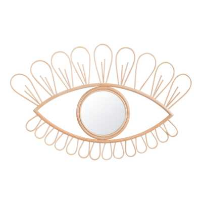 Natural Rattan Eye Mirror by World Market - World Market/Cost Plus