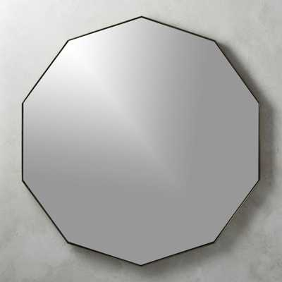 Geo Brass Geometric Wall Mirror - CB2